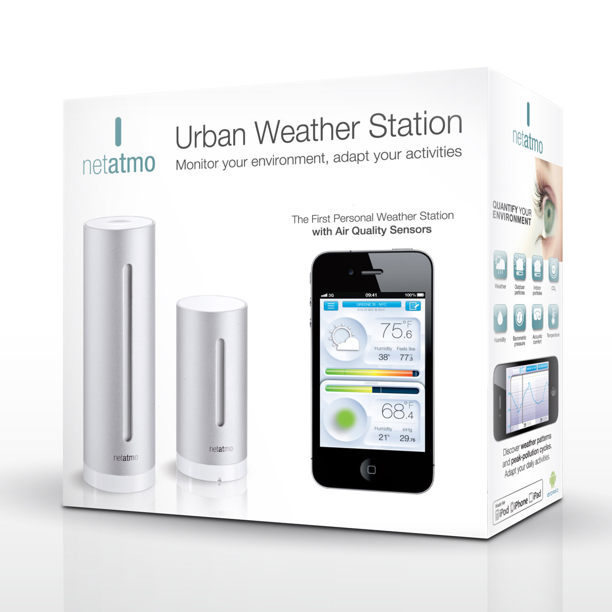 netatmo weather station and air quality monitor for. Black Bedroom Furniture Sets. Home Design Ideas