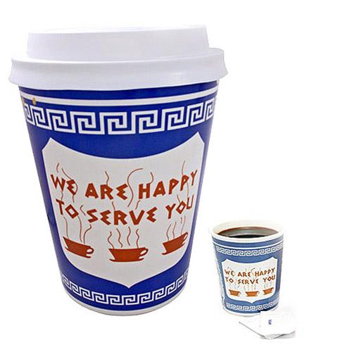 New york coffee cup trash can