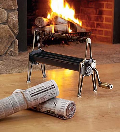 Newspaper Log Roller Create Your Own Starter Logs The