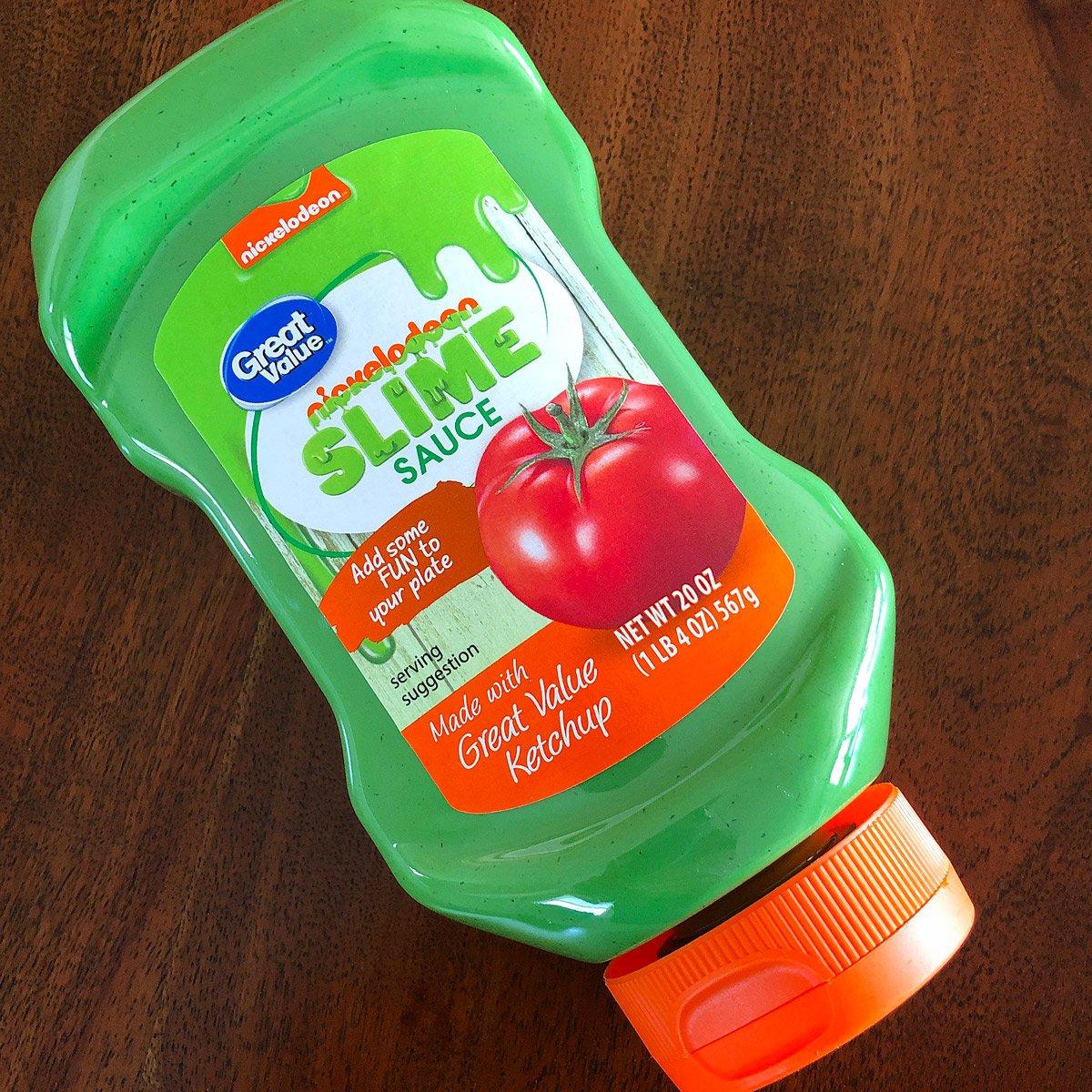 Nickelodeon Green Slime Sauce Ketchup