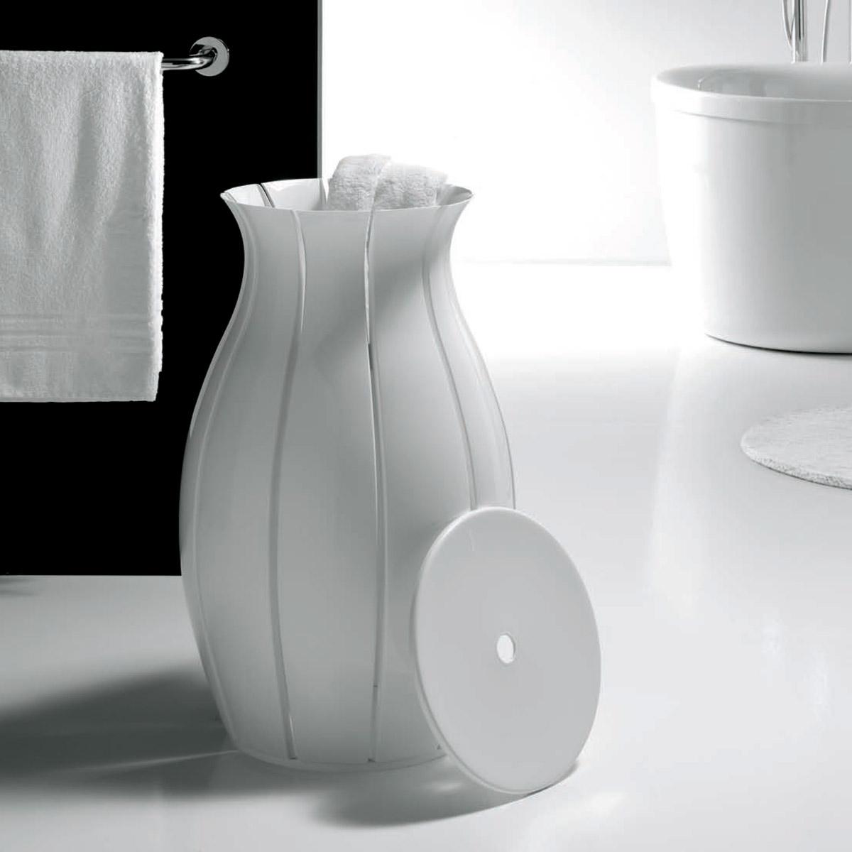ninfea  modern sculptural laundry hamper  the green head - ninfea  modern sculptural laundry hamper