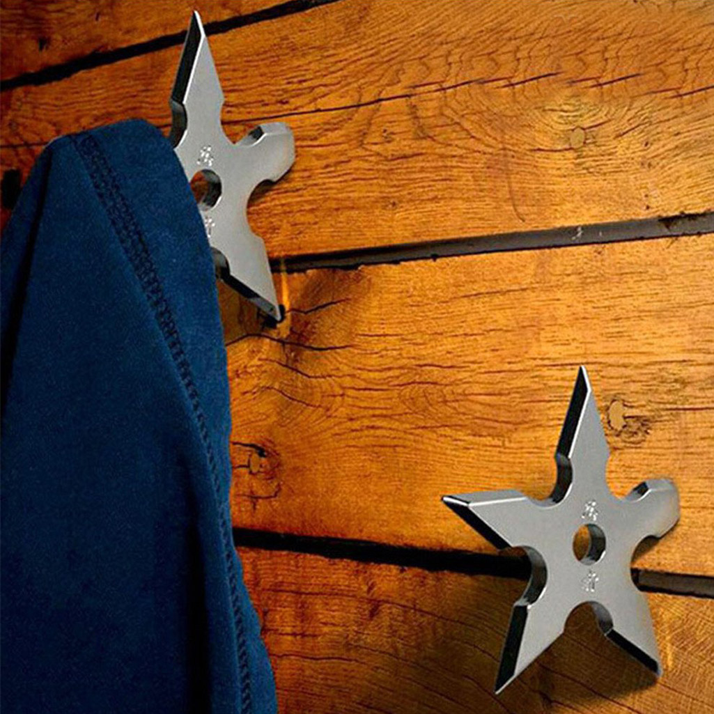 Ninja Star Coat Hooks - The Green Head