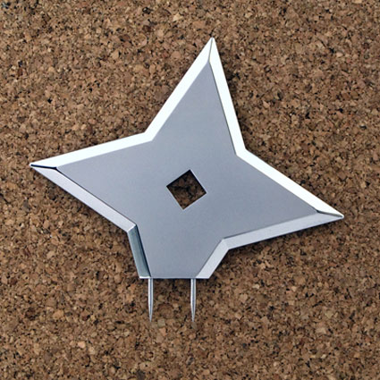 Ninja Throwing Star Thumbtacks - The Green Head
