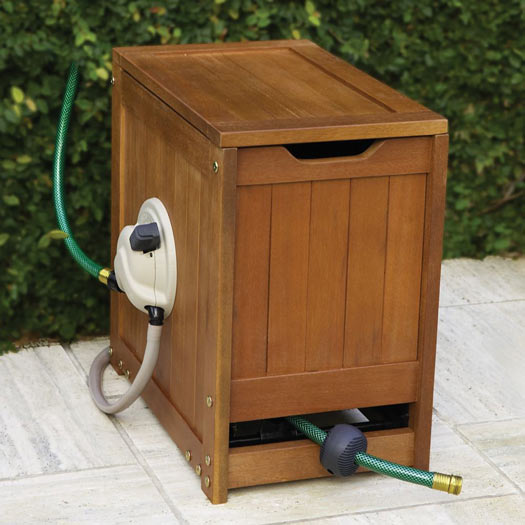 Self Winding Garden Hose Reel Powered By Water The Green Head
