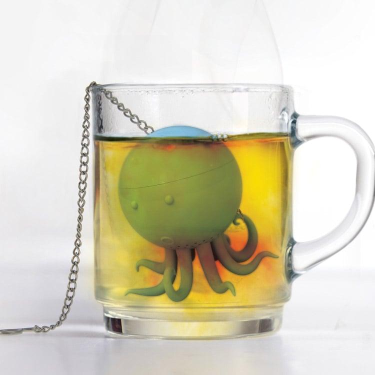 octeapus tea infuser the green head. Black Bedroom Furniture Sets. Home Design Ideas