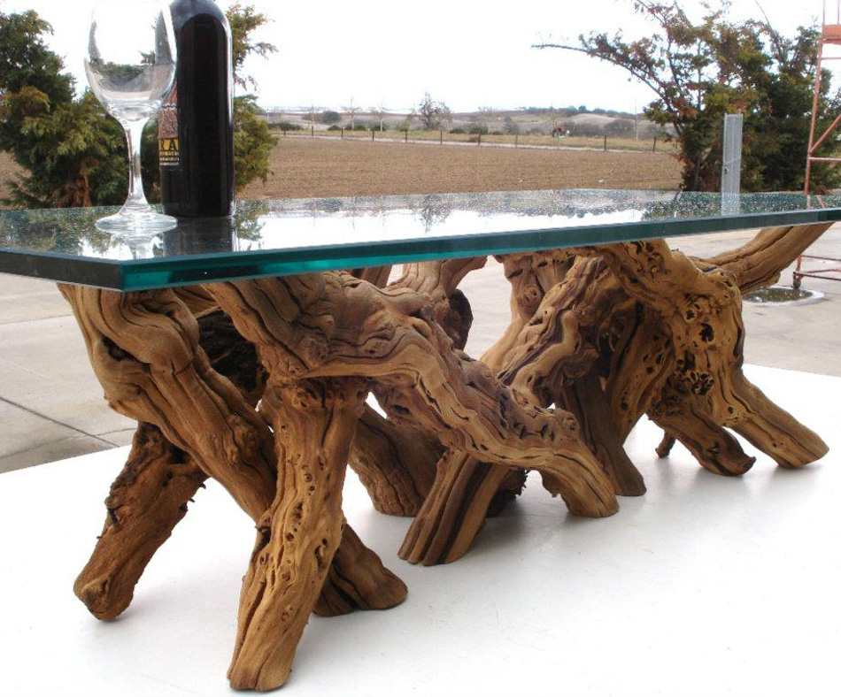 Old vine grapevine coffee table the green head for Table and vine