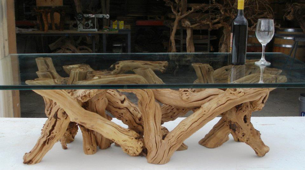 Old vine grapevine coffee table the green head - Wooden art mobili ...