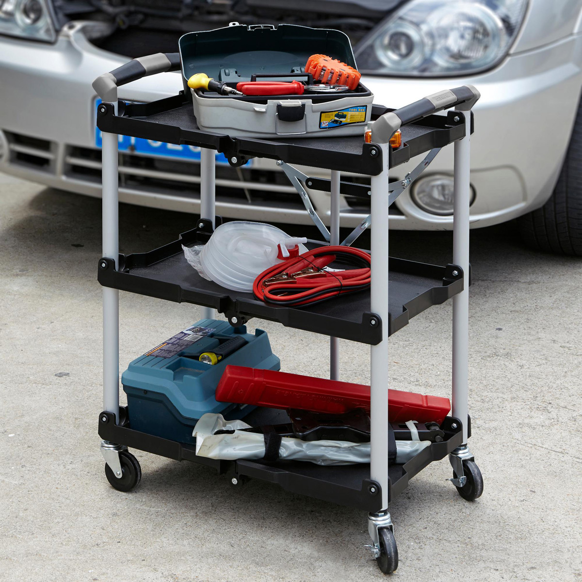 Olympia Tools Pack N Roll Collapsible Utility Cart The