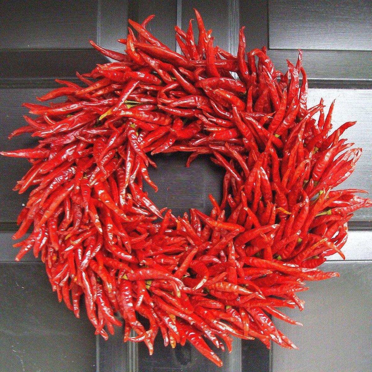 organic red chili pepper wreath the green head. Black Bedroom Furniture Sets. Home Design Ideas
