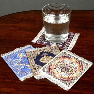 Oriental Rug Coasters Handcrafted In