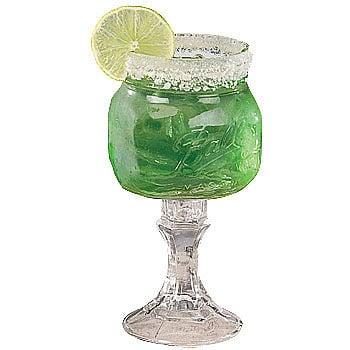 Mason jar margarita and martini glasses the green head - Mason jar goblets ...