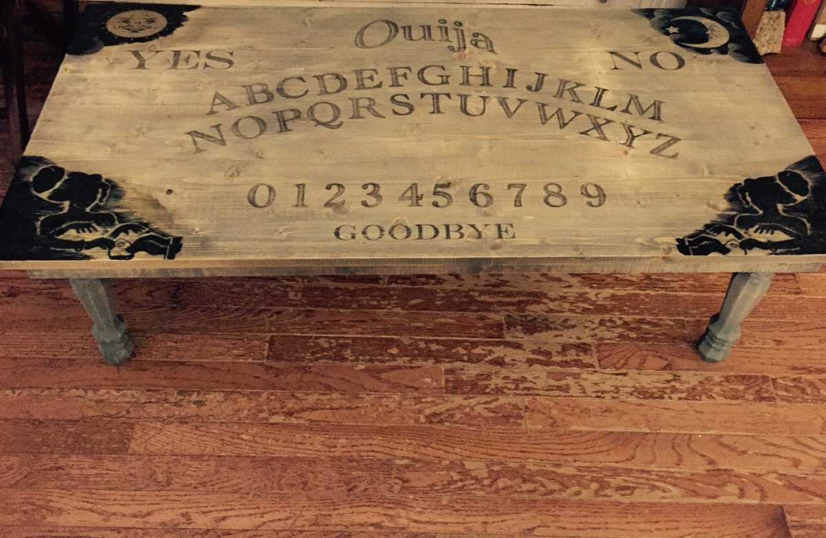 ouija board coffee table - the green head