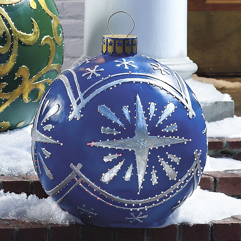 massive outdoor lighted christmas ornaments - Outdoor Christmas Ornaments