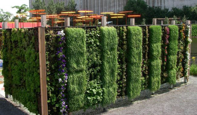 living wall planter home design inside
