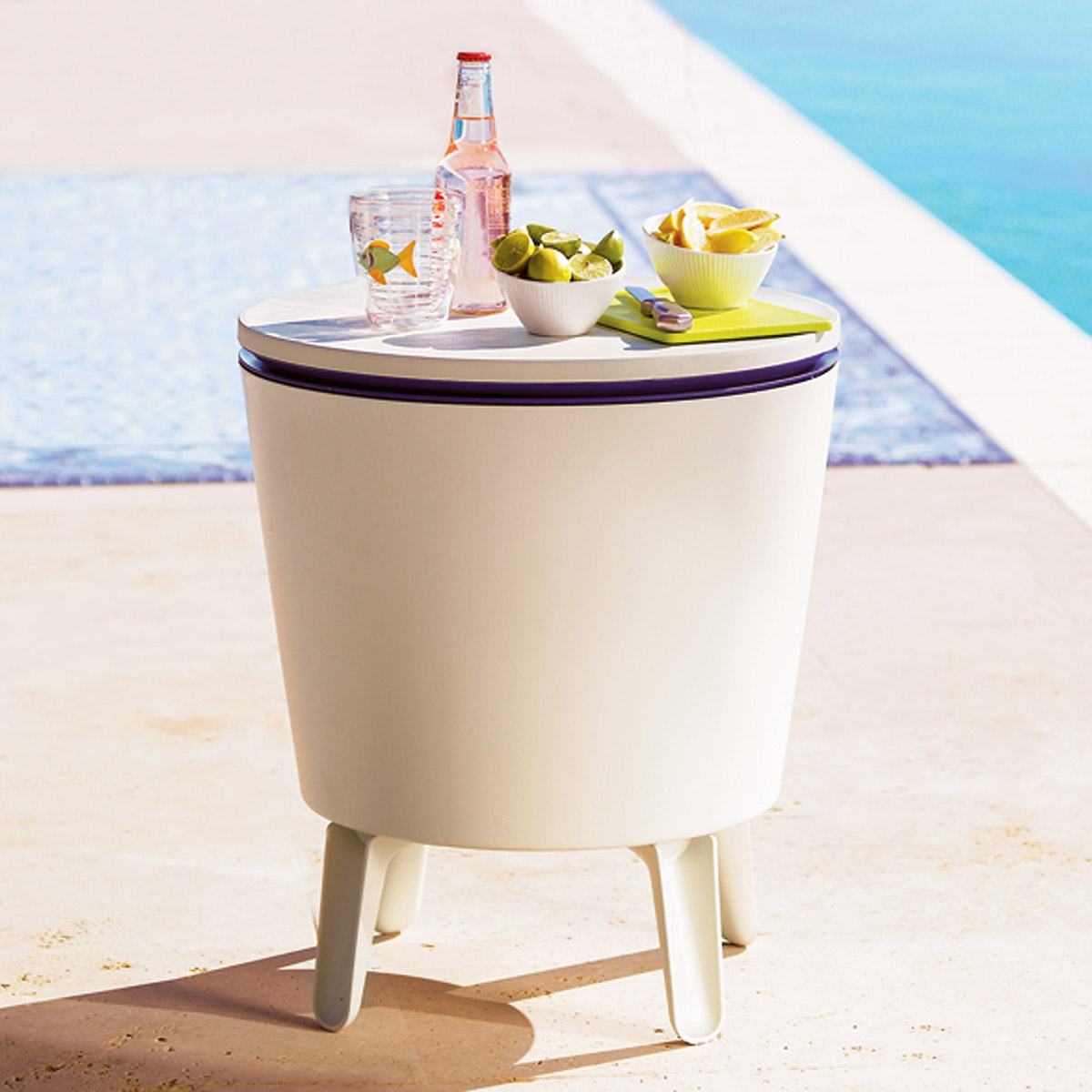 Table Drinks Cooler Outdoor Side Table Beverage Cooler The Green Head