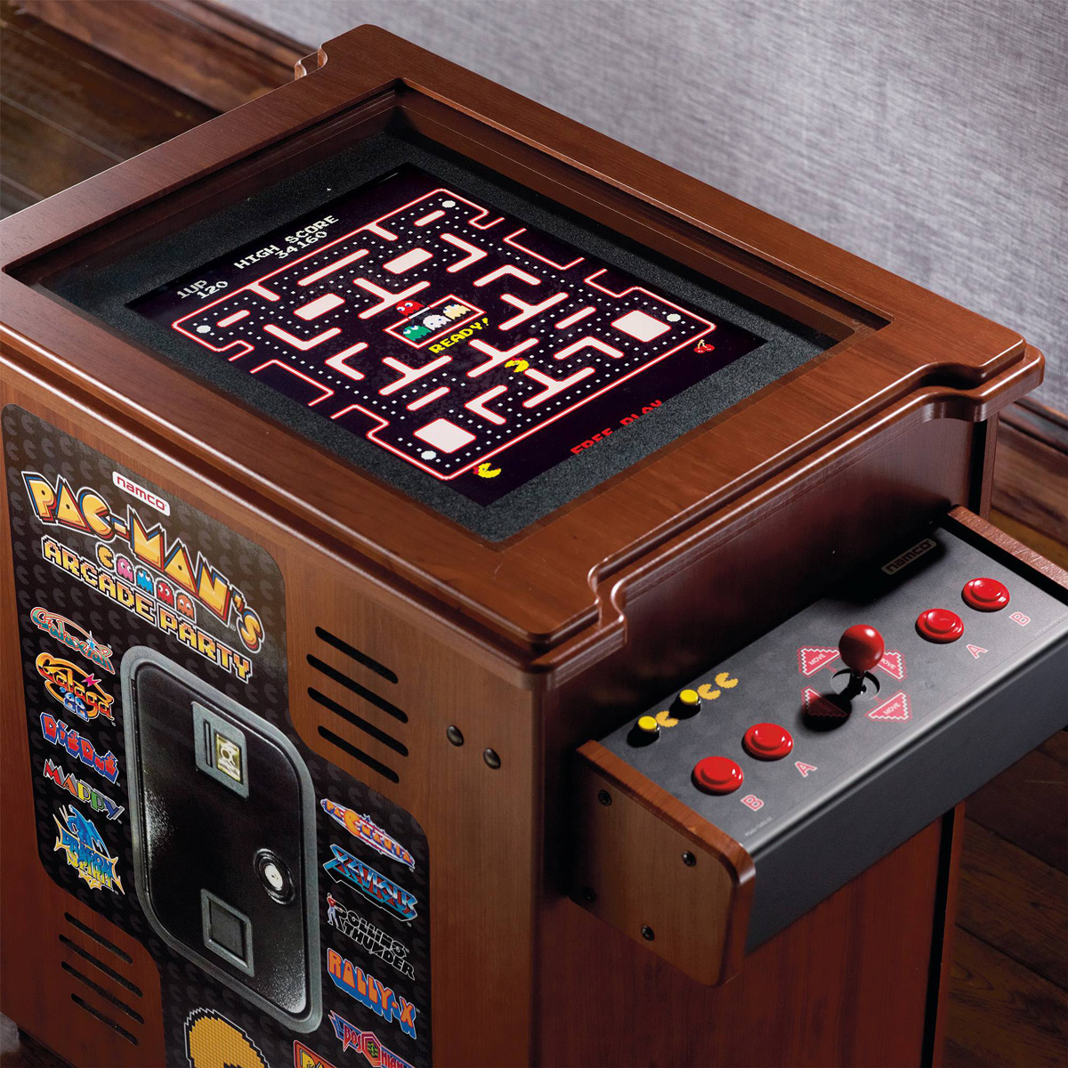 Pacman Table Game >> Pac-Man's Arcade Party Cocktail Table