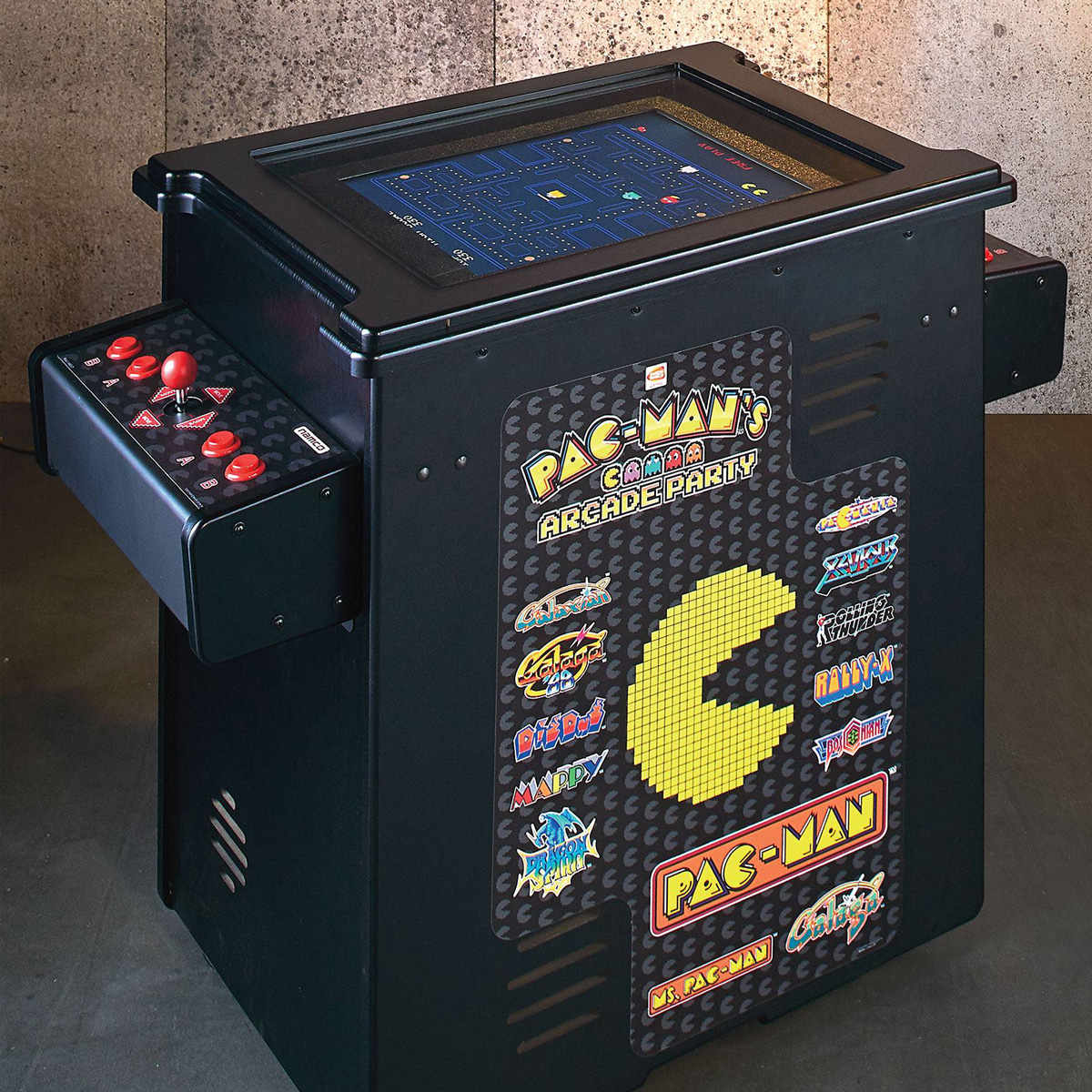 pac-man's arcade party cocktail table - the green head