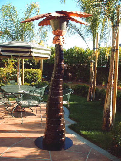 Palm Tree Patio Heater And Mister   Year Round Comfort!