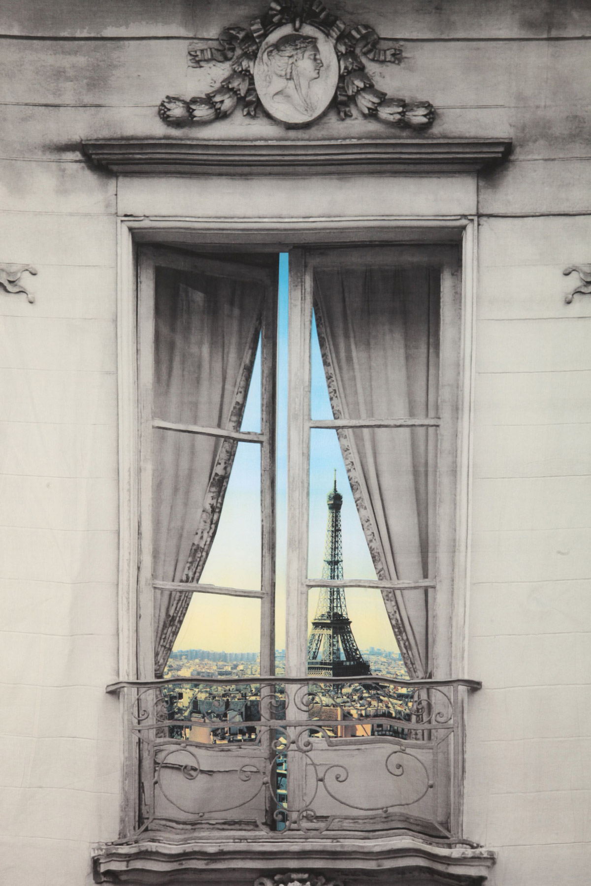 Paris Window View Tapestry The Green Head