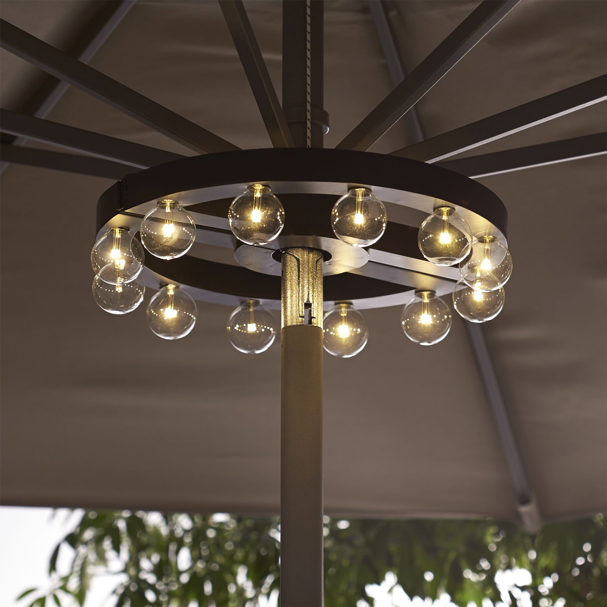 Outdoor Umbrella With Lights Patio umbrella marquee lights the green head patio umbrella marquee lights workwithnaturefo