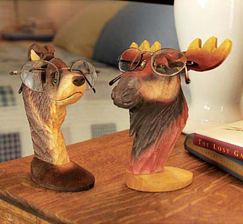 Peepers Wooden Animal Eyeglass Holders The Green Head