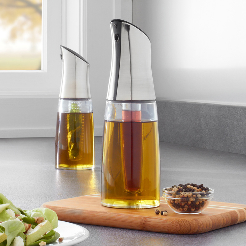 perfect mix oil and vinegar bottle the green head. Black Bedroom Furniture Sets. Home Design Ideas