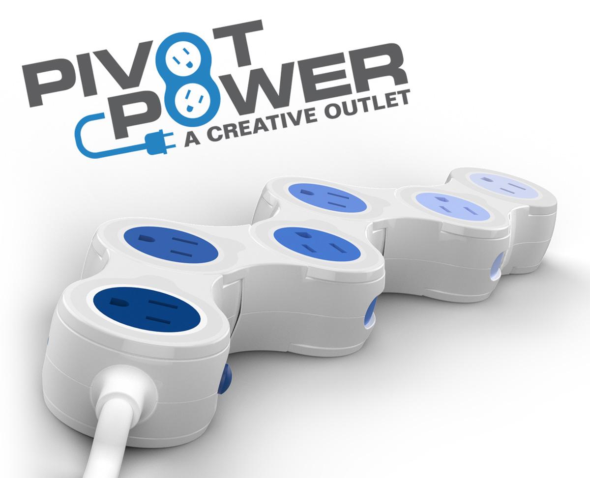 Flexible Power Strip : Pivot power flexible strip the green head