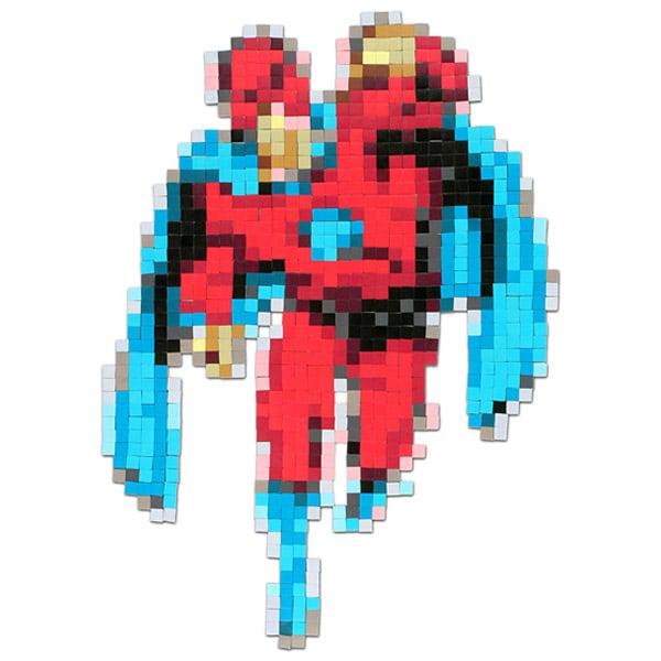Pixelated Superhero Fridge Magnet Set