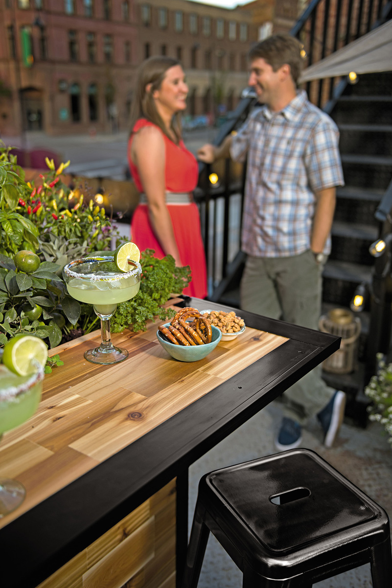 Plant A Bar Wooden Outdoor Bar And Planter