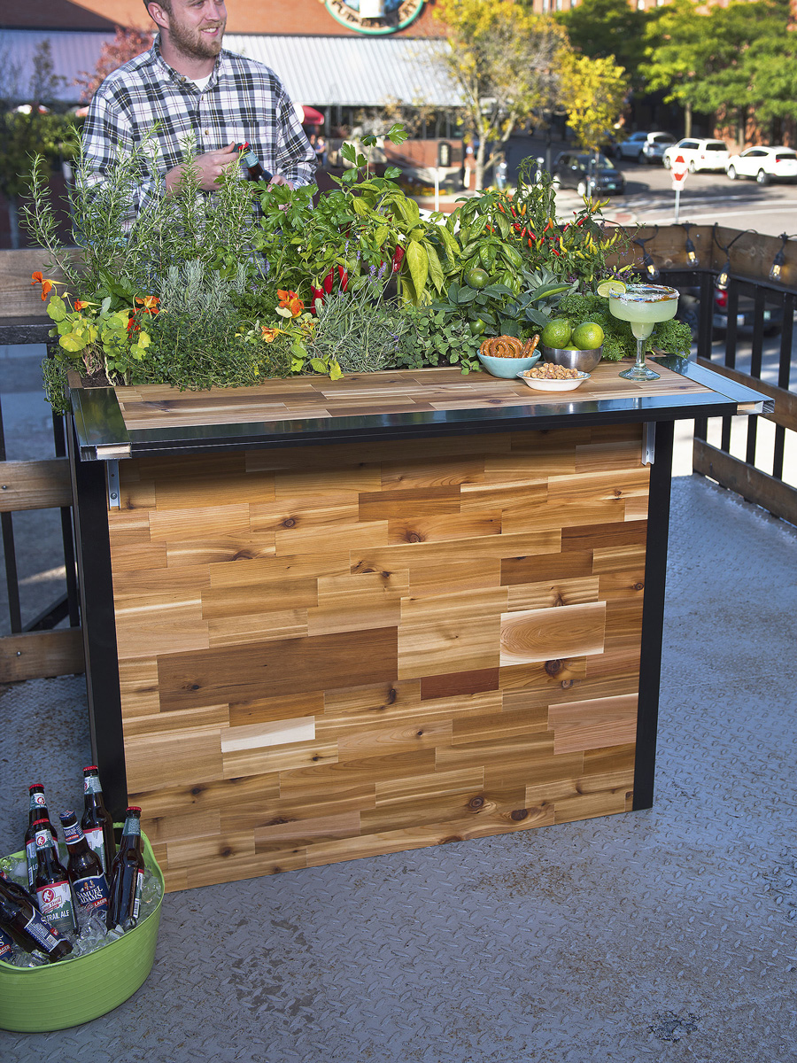 Plant A Bar Wooden Outdoor And Planter