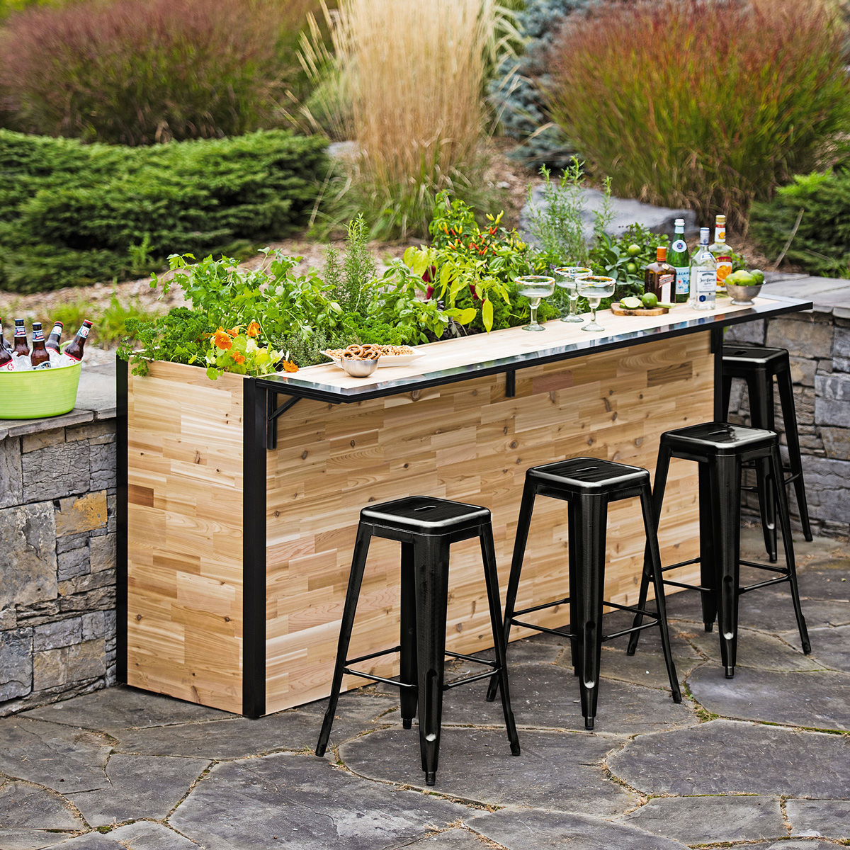 Plant A Bar Wooden Outdoor And Planter The Green Head
