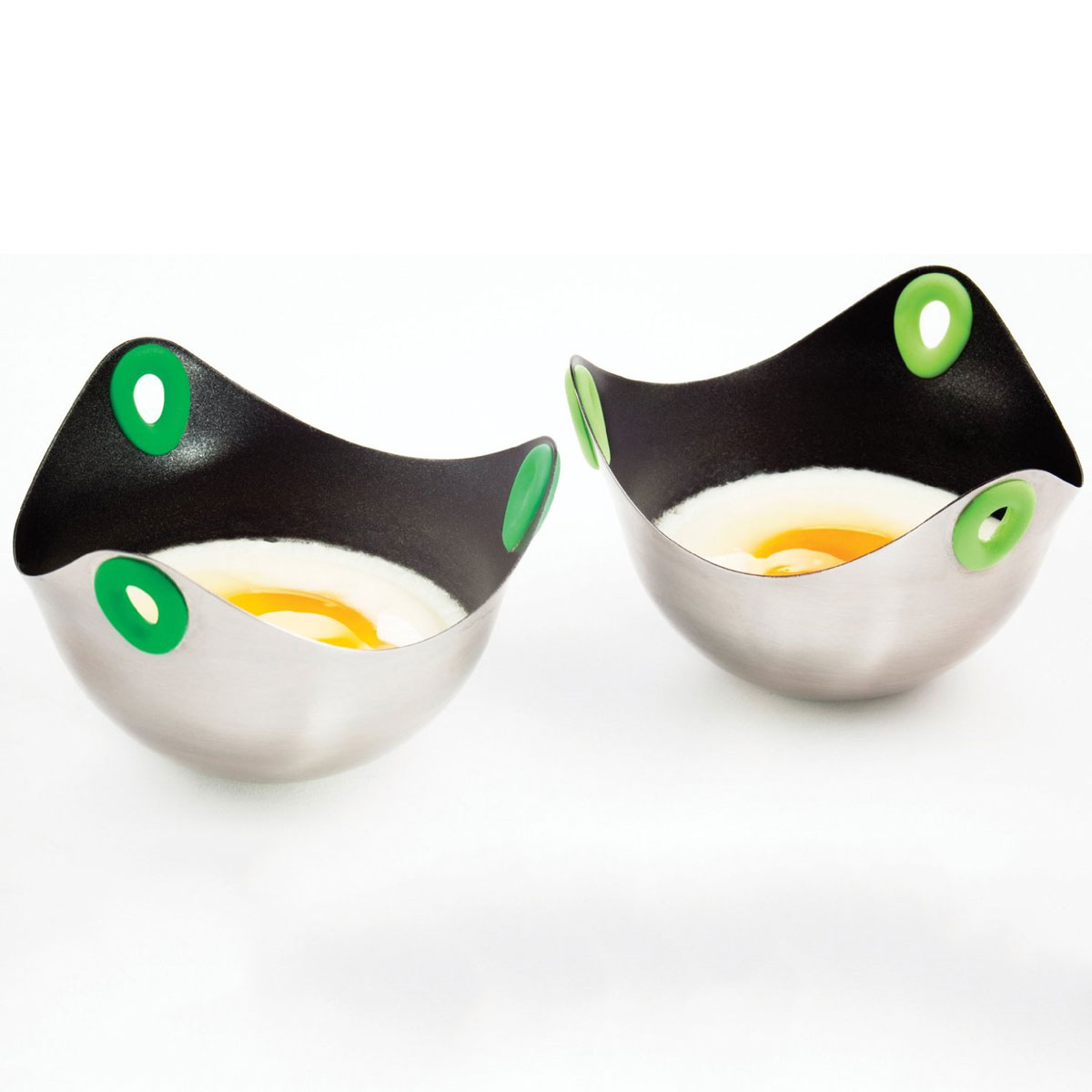 Poachpod Stainless Floating Egg Poachers The Green Head