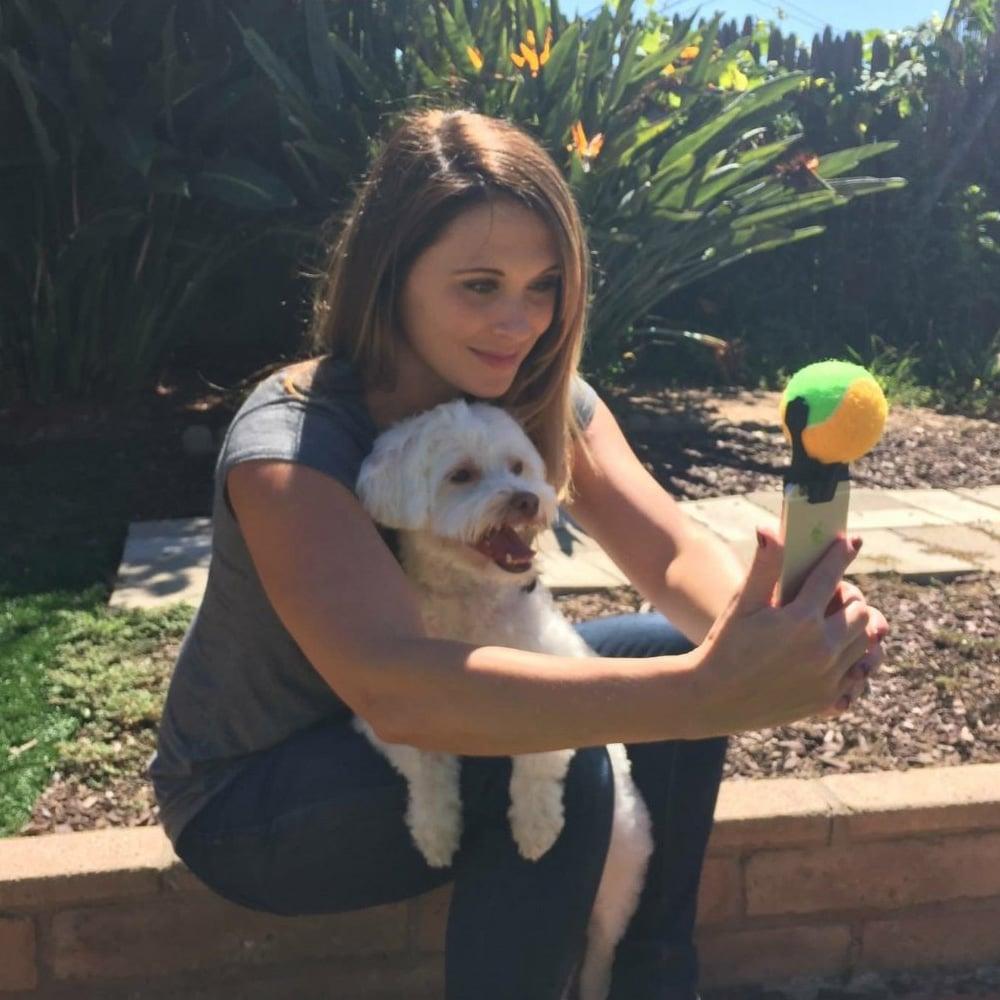 Pooch Selfie Smartphone Squeaker Ball Gets Dog S