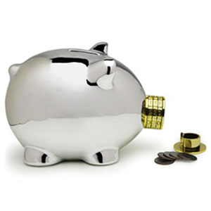 Pork knox combination lock piggy bank the green head for Really cool piggy banks