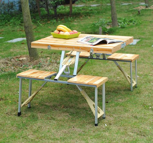Portable Suitcase Picnic Table The Green Head