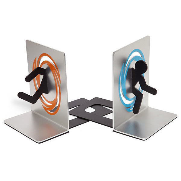 Portal bookends the green head - Portal bookend ...