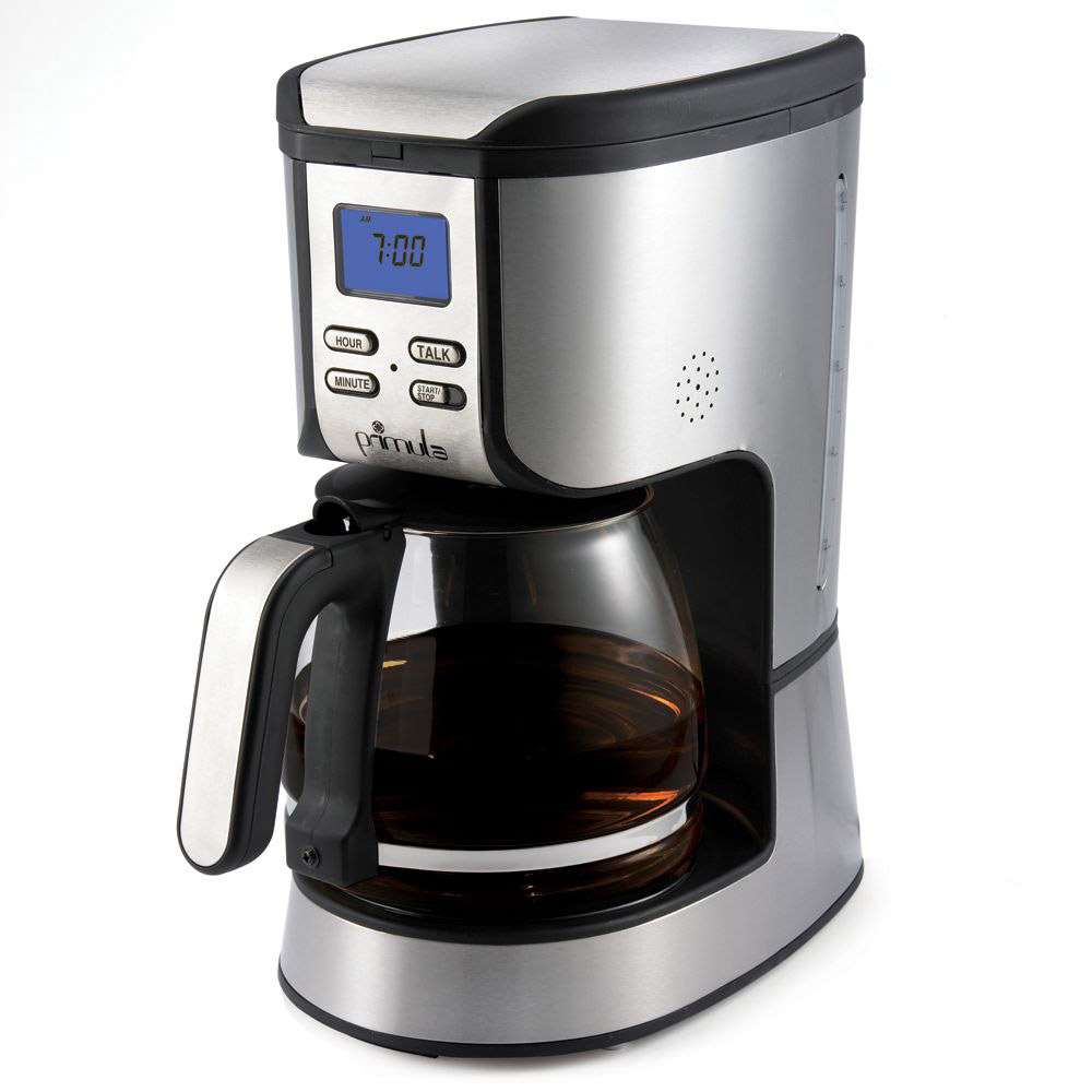 Primula speak n 39 brew talking coffee maker the green head How to make coffee with a coffee maker