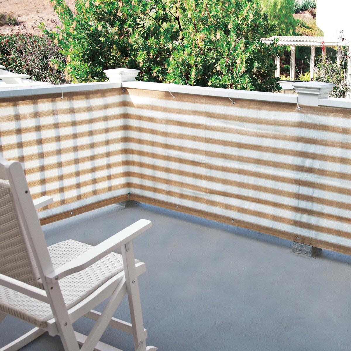 Privacy screen for deck porch and patio railings the for Outdoor privacy panels for decks