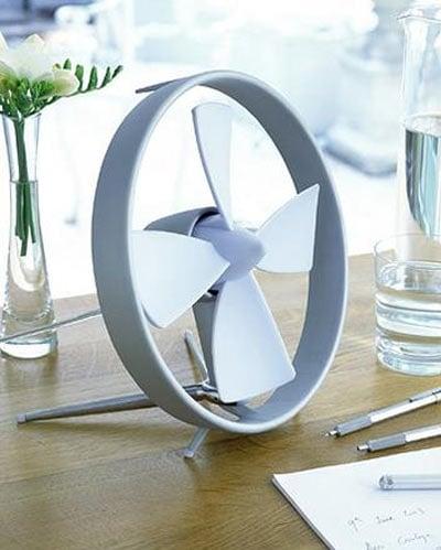 Propello Cageless Rubber Bladed Desktop Fan The Green Head