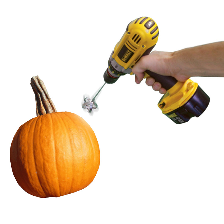 Pumpkin Gutter Pumpkin Carving Drill Bit The Green Head