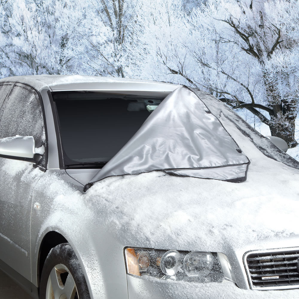 quick removal windshield snow tarp the green head. Black Bedroom Furniture Sets. Home Design Ideas
