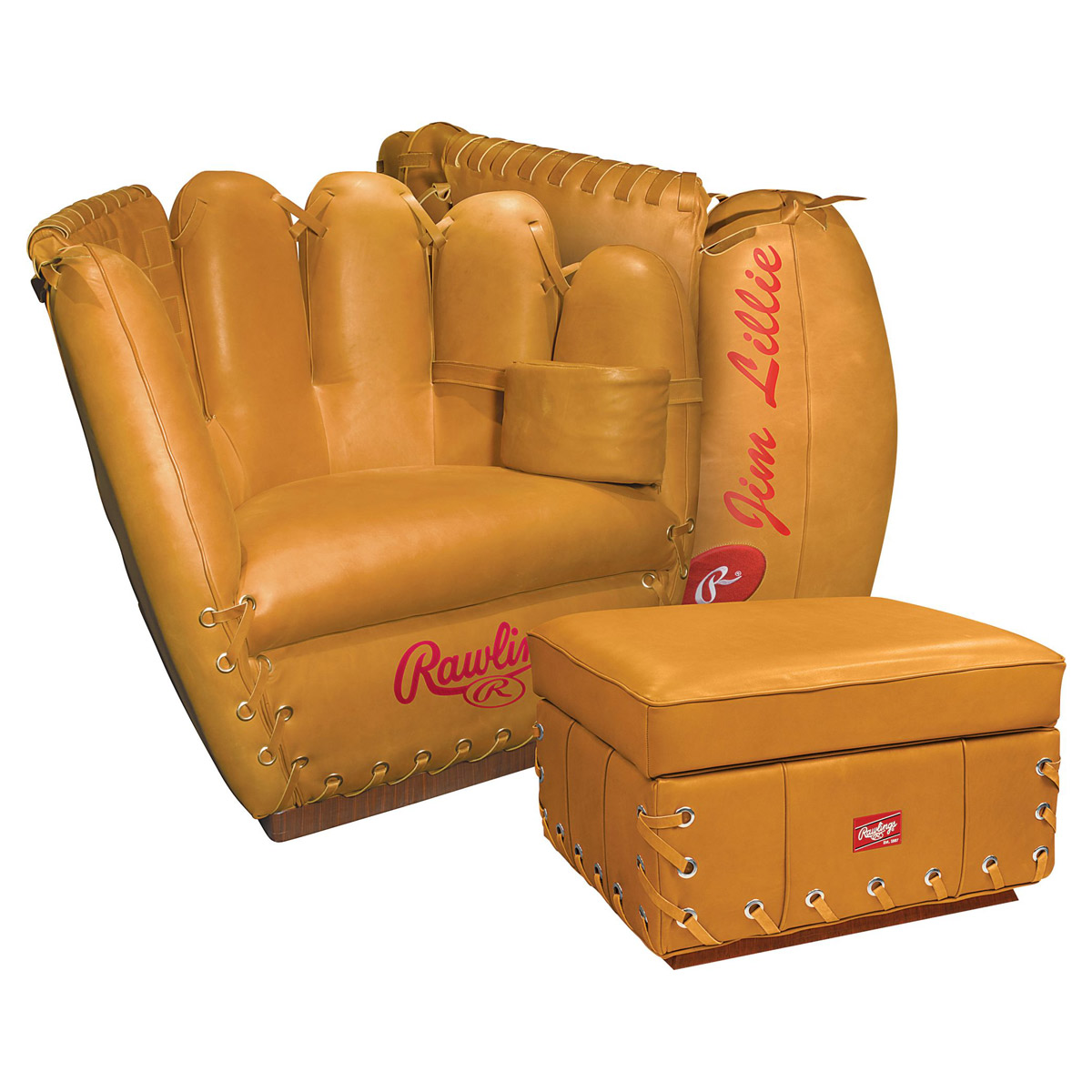 Rawlings Leather Baseball Glove Chair The Green Head