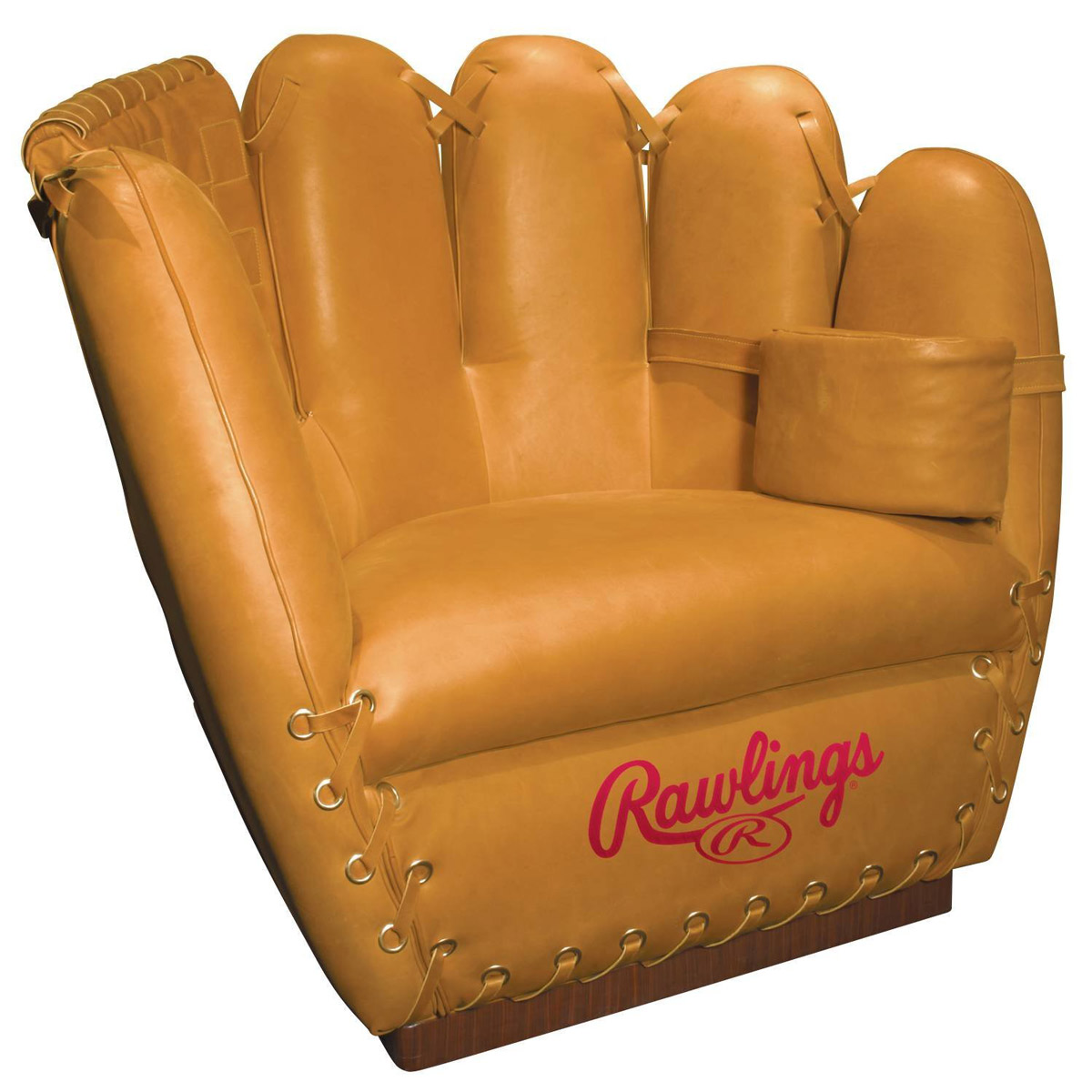 Rawlings leather baseball glove chair the green head Baseball sofa
