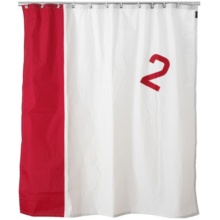 Real Boat Sail Shower Curtains - Real Boat Sail Shower Curtains - The Green Head