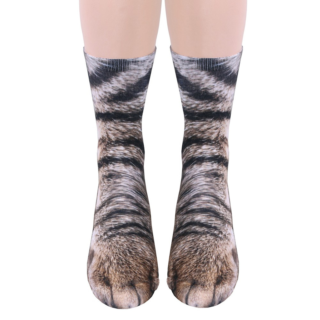 cat in socks Men need cat socks too and the cat daddy mens cat socks are purr-fect for the cat-loving man.