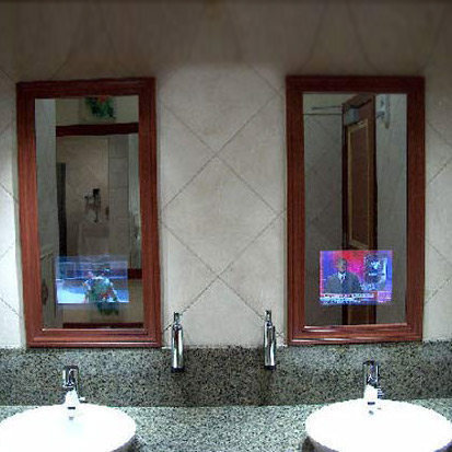 Recessed television mirror the green head for Tlvision miroir