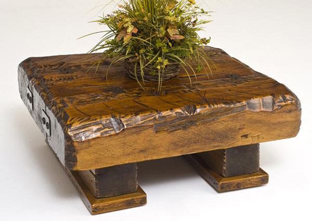 Reclaimed Barn Wood Beam Coffee Table
