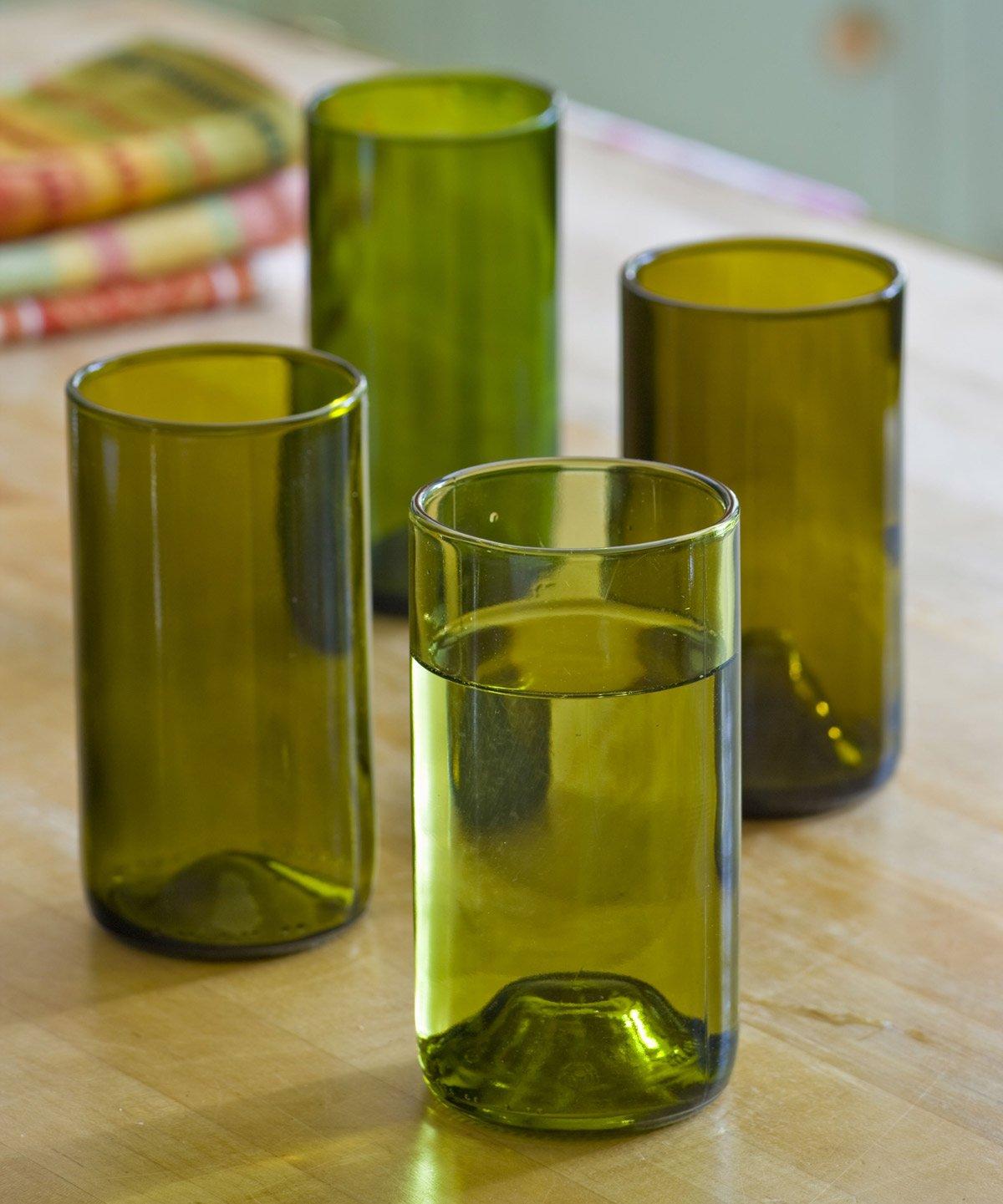 Reclaimed Wine Bottle Glasses The Green Head