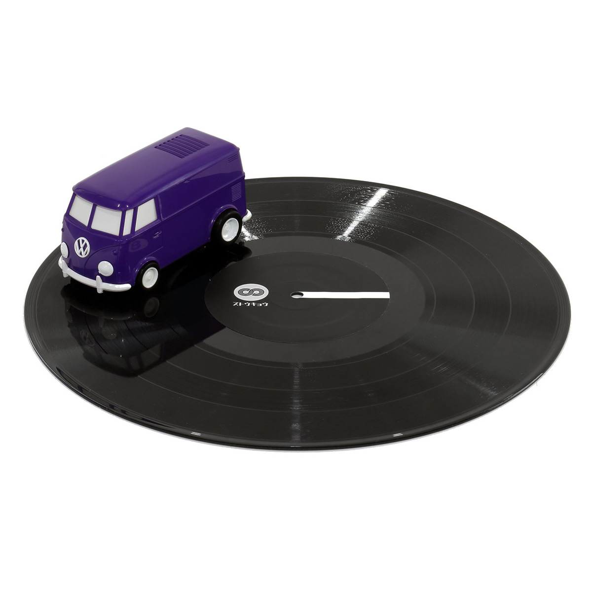 Record Runner Vw Bus Portable Self Contained Vinyl