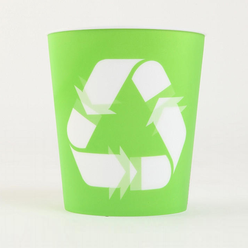 Recycle bin wastebasket the green head - Cool wastebaskets ...